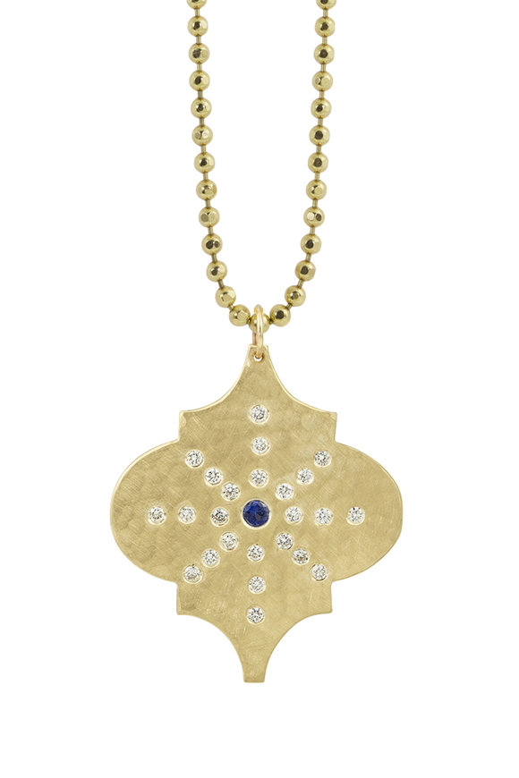 Julez Bryant 14K Yellow Gold Zion Moroccan Starburst Necklace