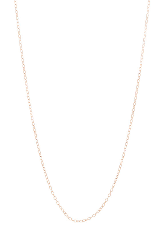 Kai Linz Rose Gold Oval Chain Link Necklace