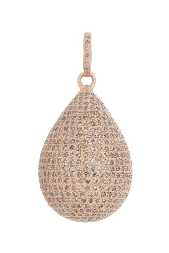 Kai Linz Rose Gold Diamond Orb Charm
