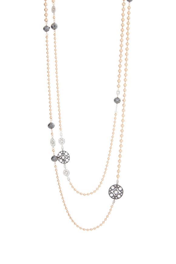Mariani 18K Rose Gold Lucius Black Diamond Necklace