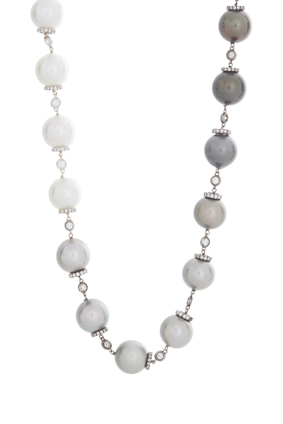 Mariani 18K White Gold Mare Adjustable Pearl Necklace