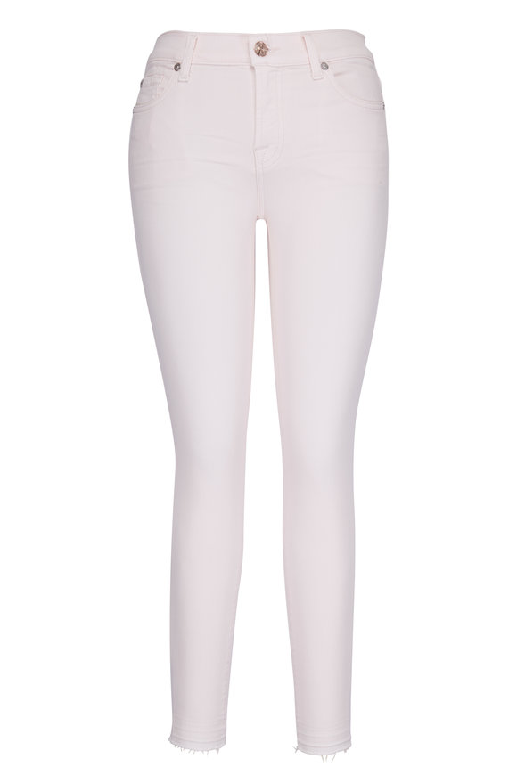 7 For All Mankind Pink Super Skinny Ankle Jean