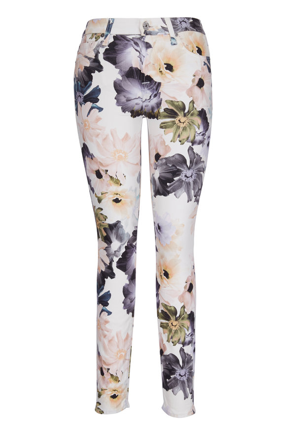 7 For All Mankind Desert Garden Floral Super Skinny Ankle Jean