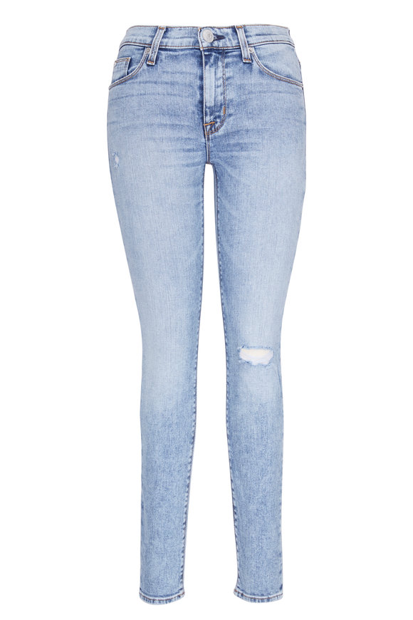 Hudson Clothing Nico Mid-Rise Ankle Super Skinny Distressed Jean
