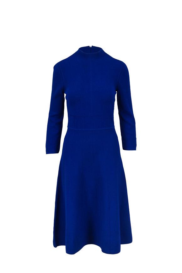 Emporio Armani Royal Blue Knit Long Sleeve Dress