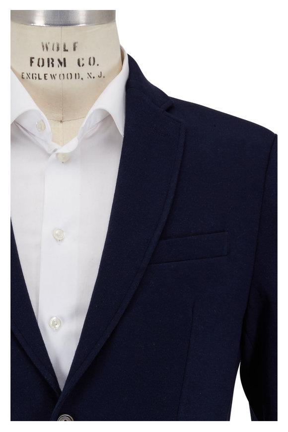 Peter Millar Navy Blue Soft Wool Knit Blazer