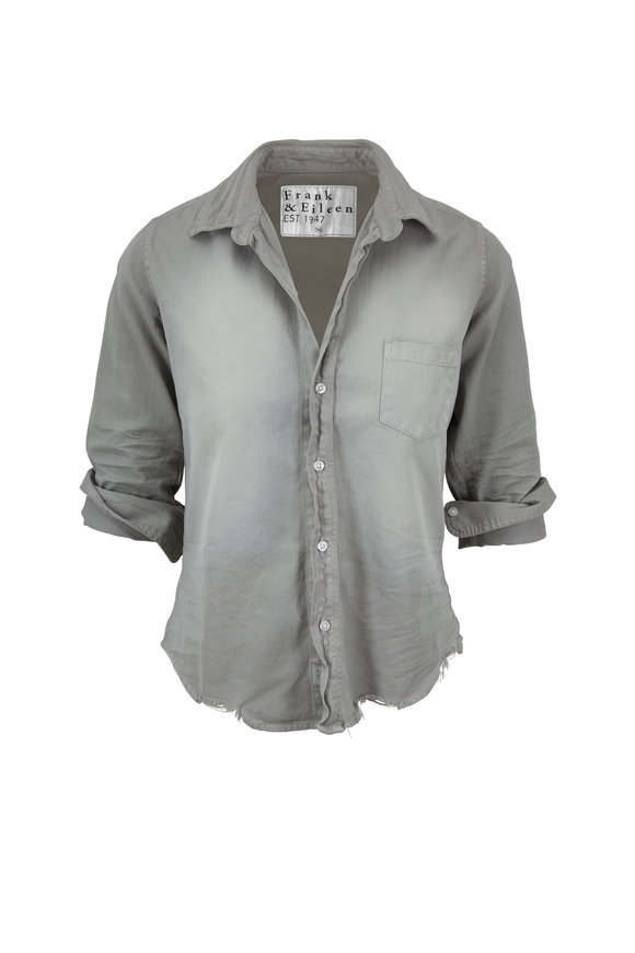 Frank & Eileen Barry Gray Distressed Button Down