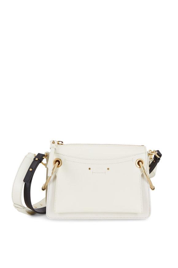 Chloé Roy White Leather Medium Shoulder Bag