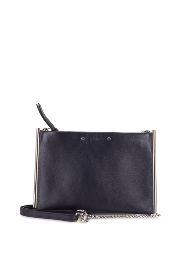 Chloé Roy Flat Midnight Leather Chain Wallet