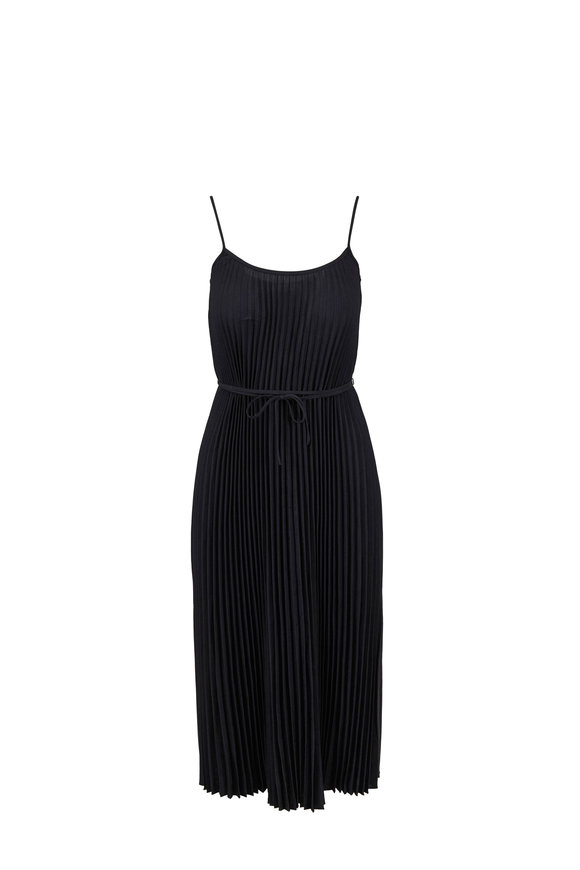 Vince Black Pleated Cami Dress