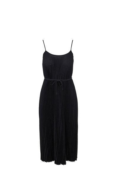 Vince - Black Pleated Cami Dress