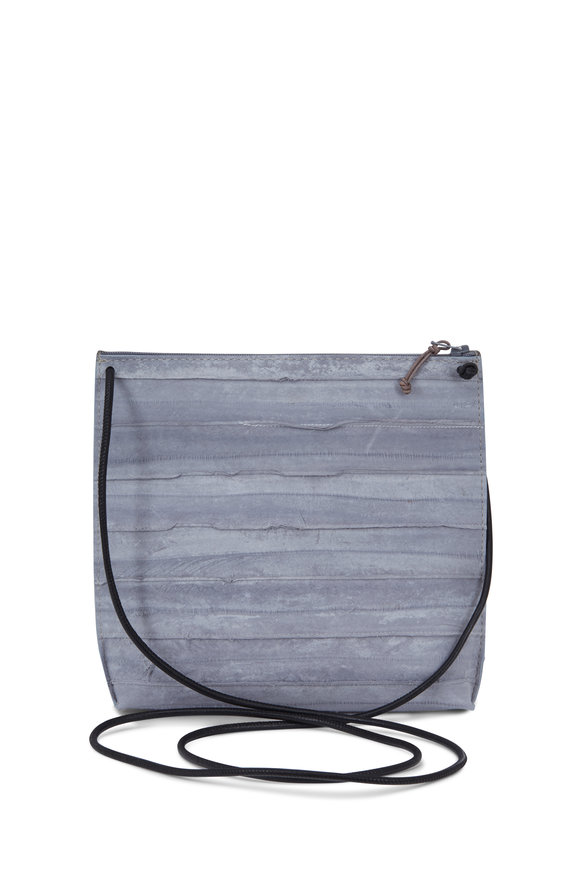 B May Bags Gray Eel Small Pouch Crossbody