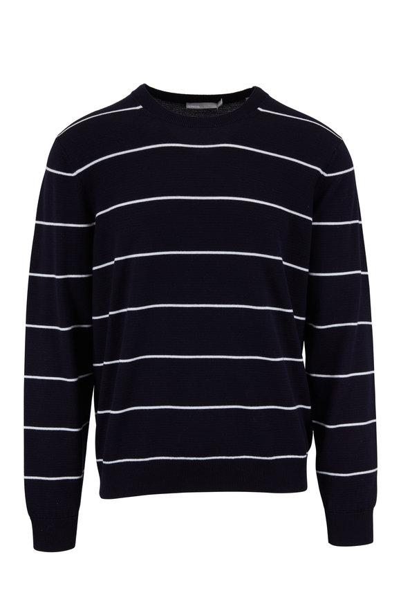 Vince New Coastal & Leche Striped Crewneck Sweater