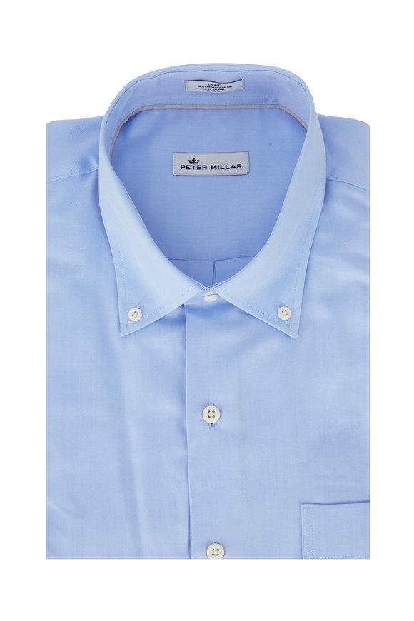 Peter Millar Light Blue Pinpoint Sport Shirt