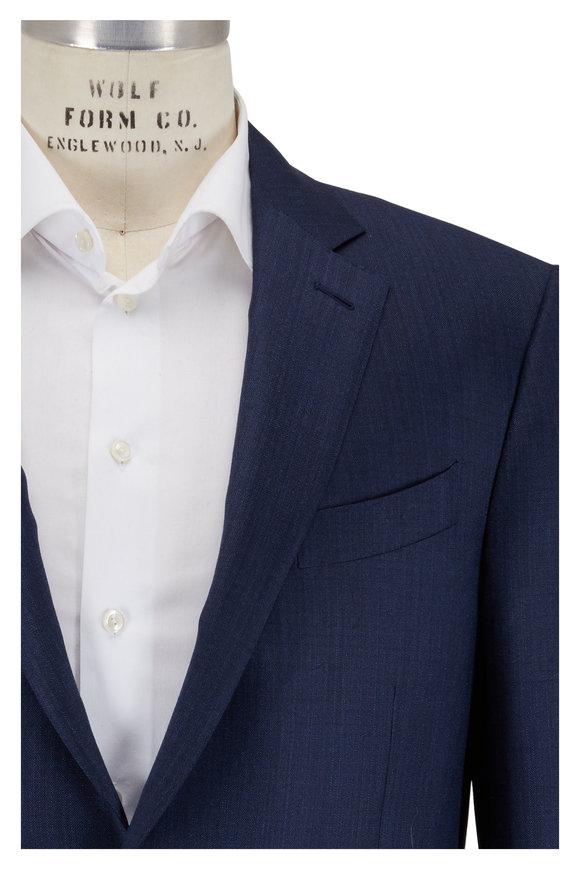 Ermenegildo Zegna Blue Wool & Silk Suit