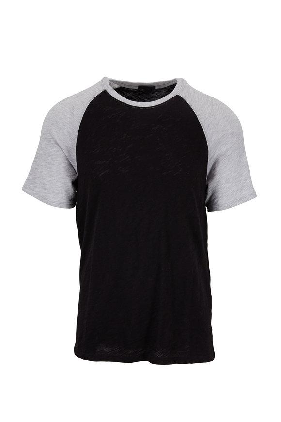 A T M Black & Gray Baseball T-Shirt