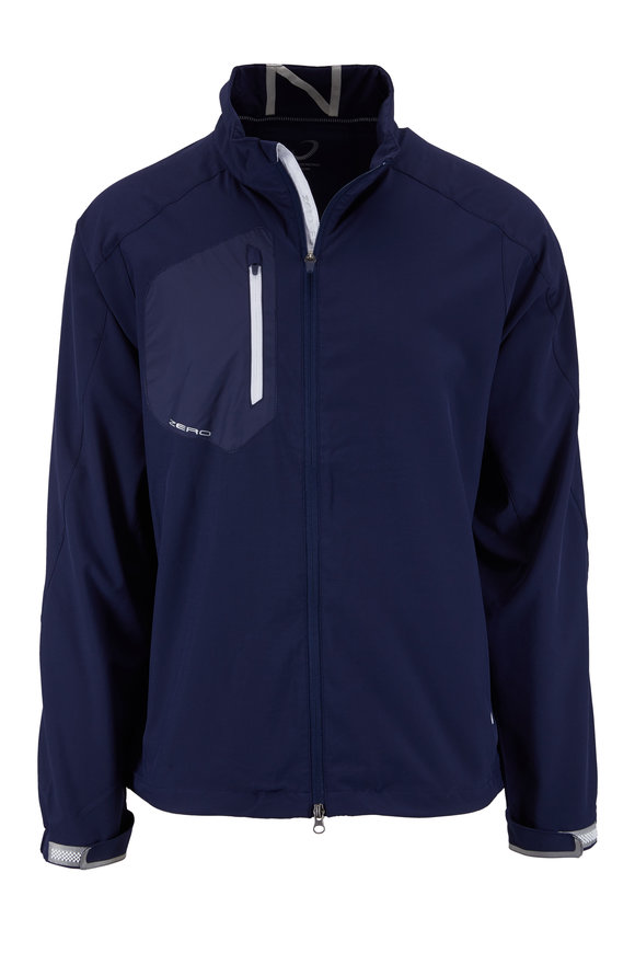 Zero Restriction  Z700 Navy Blue Full Zip Performance Jacket