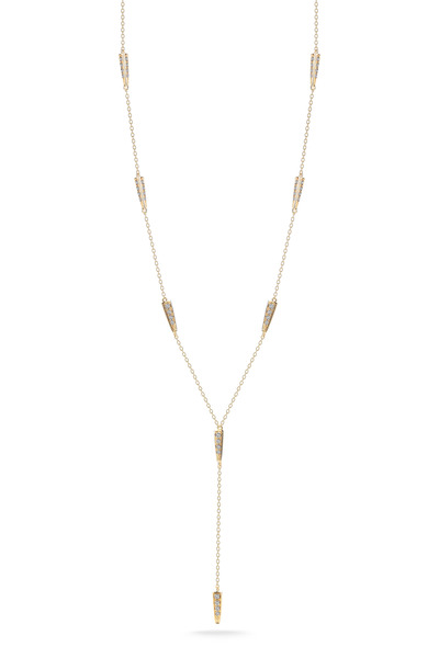 Elizabeth & James - Northern Star Gold White Topaz Lariat Necklace