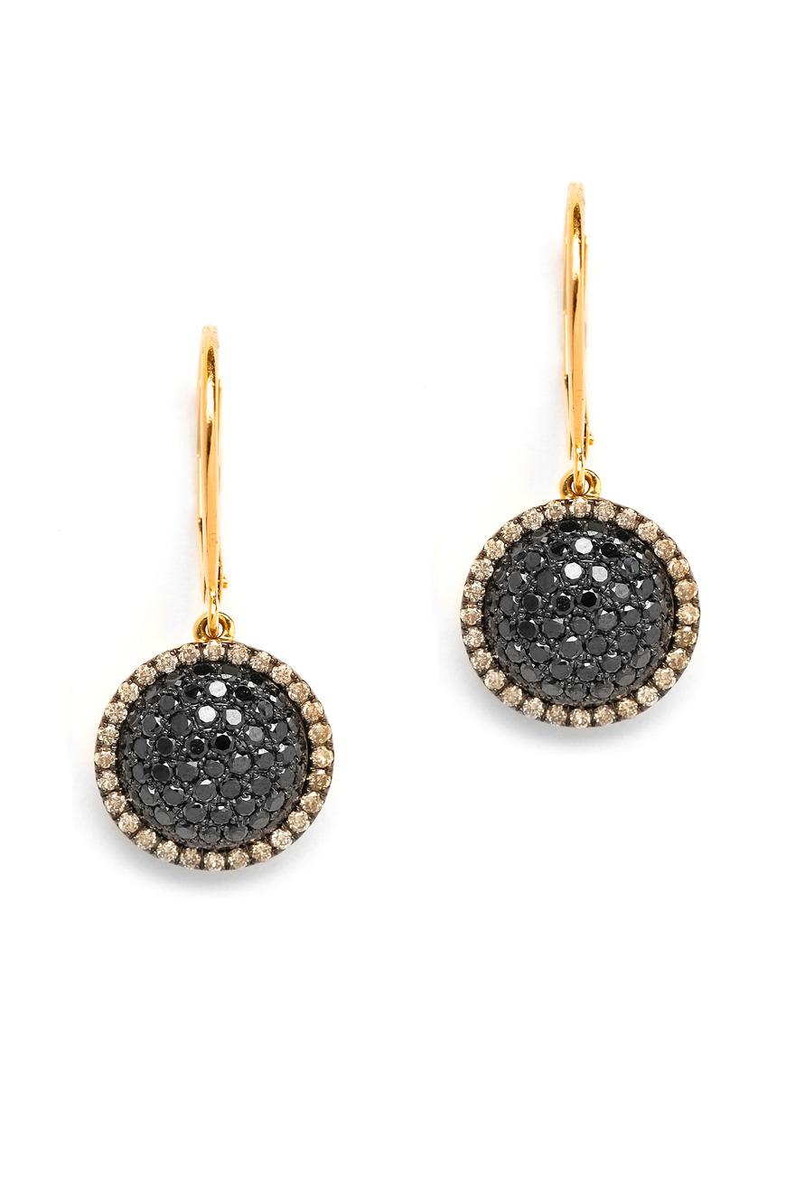 Black Diamond Chakra Earrings