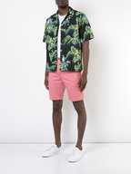 PT Torino - Nantucket Red Linen Blend Bermuda Shorts