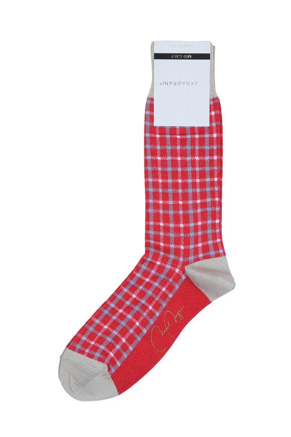 VKNagrani Red Check Socks