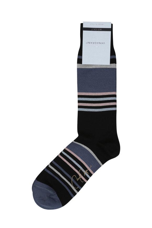 VKNagrani Black Striped Socks