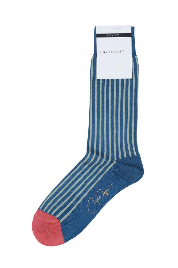 VKNagrani Blue Striped Socks