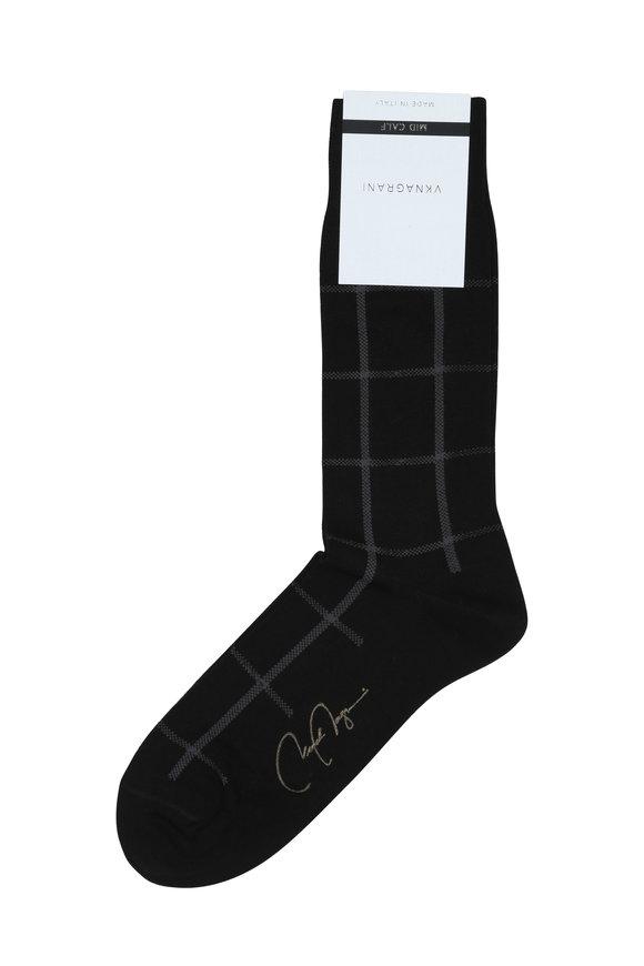 VKNagrani Black Windowpane Socks