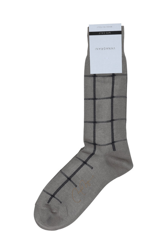 VKNagrani Gray Windowpane Socks
