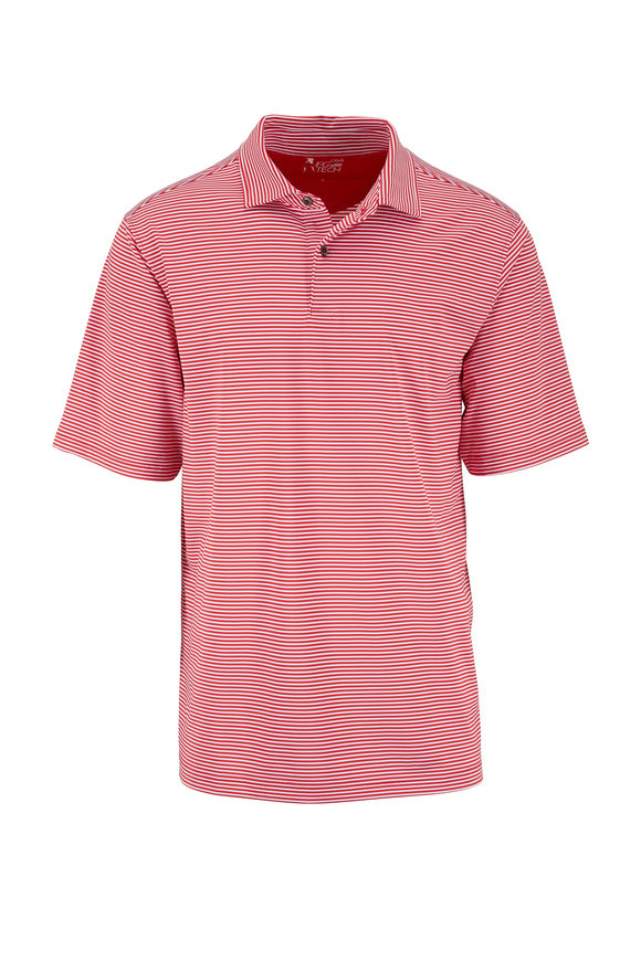 Fairway & Green Red Stripe Tech Polo