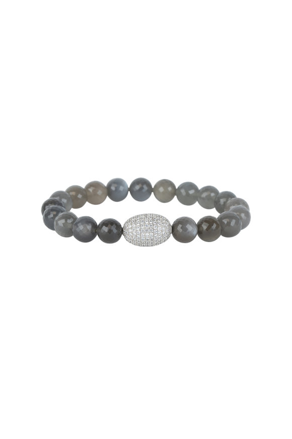 Loren Jewels Mix Spinel & Labradorite Stretch Bracelet