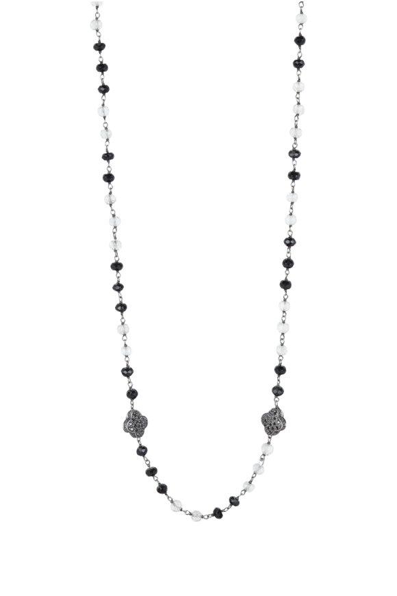 Loren Jewels Sterling Silver Pavè Black Diamond Necklace