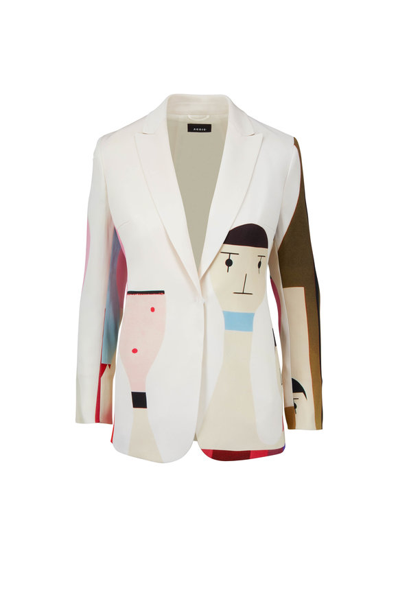 Akris Salvador Wooden Doll Print Jacket