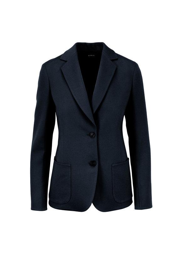 Akris Saigon Indigo Double-Faced Wool & Cashmere Blazer