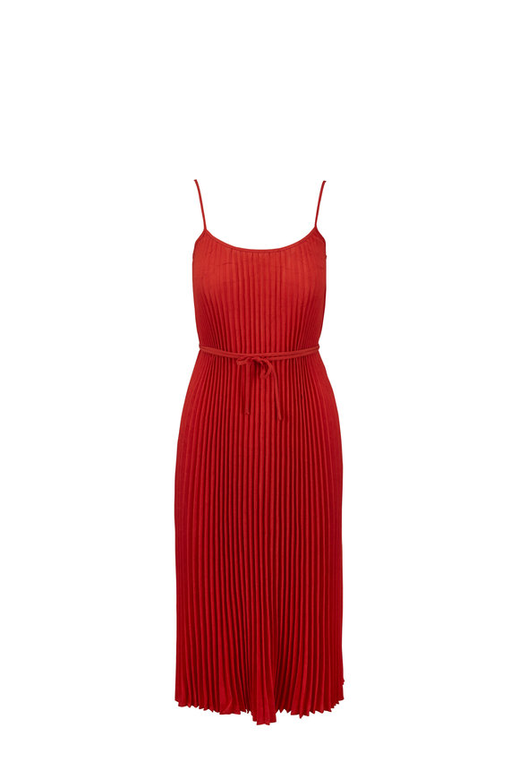 Vince Paprika Pleated Cami Dress