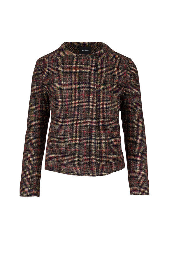Akris Stan Glass Red Plaid Jacket