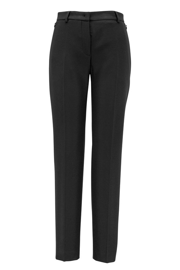 Akris Melvin Charcoal Gray Wool Slim Pant