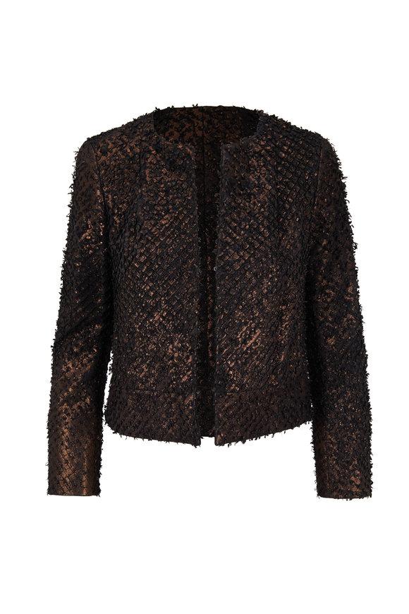 Akris Shiva Metallic Bronze Leather Jacket