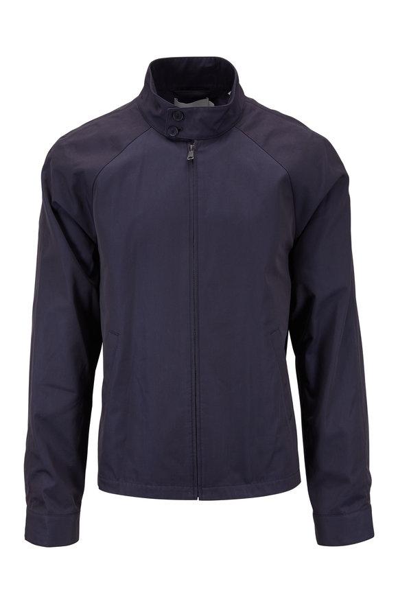 Vince Navy Cotton Full-Zip Jacket