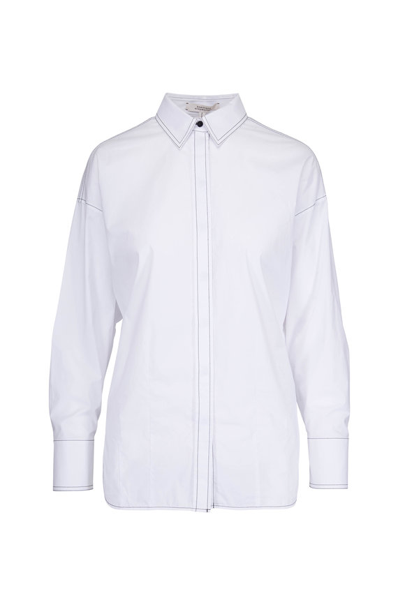 Dorothee Schumacher White Cool Touch Twist Back Blouse