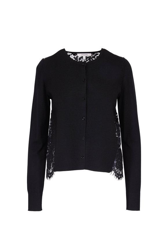 Dorothee Schumacher Lace Embrace Black Button Cardigan