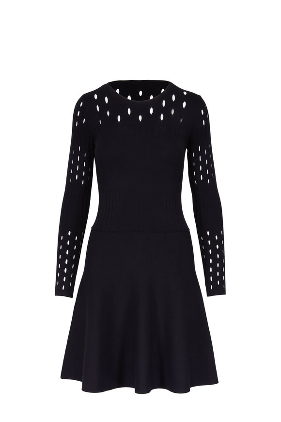 Dorothee Schumacher Dynamic Allure Black Long Sleeve Dress