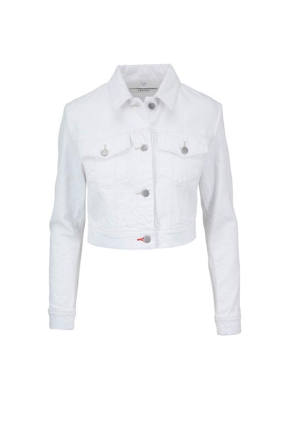 J Brand Faye White Crop Jean Jacket