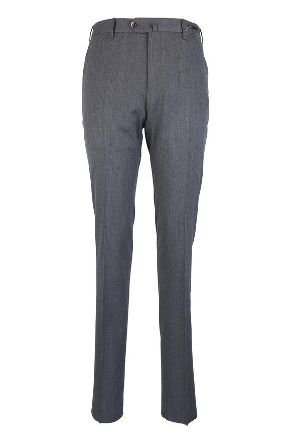 PT Pantaloni Torino Gray Superfine Stretch Wool Pant