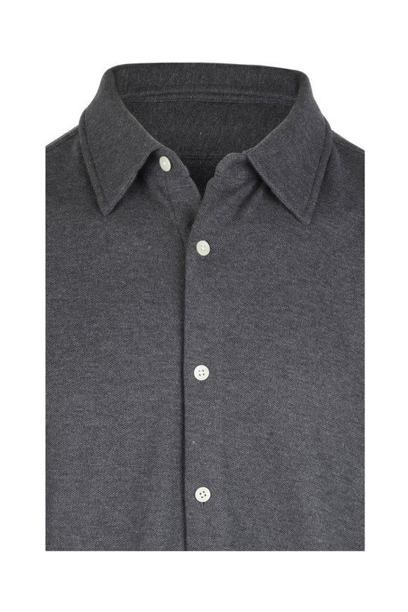 Vastrm Charcoal Gray Knit Shirt