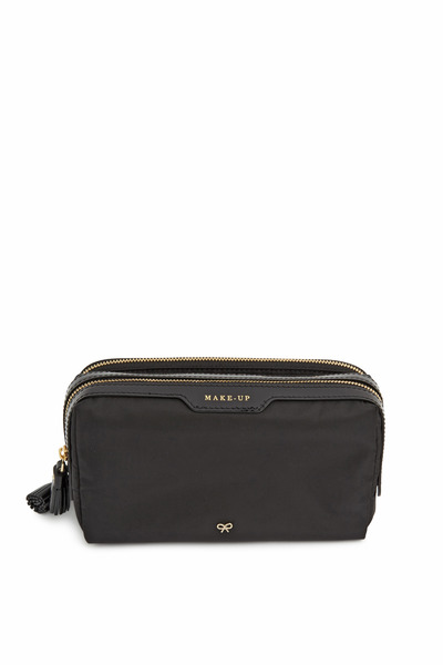 Anya Hindmarch - Black Nylon Small Makeup Bag