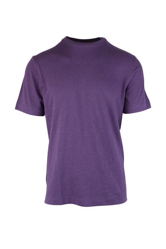 Left Coast Tee Purple Crewneck T-Shirt