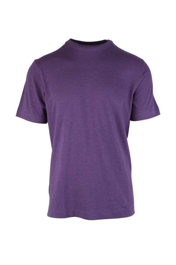Left Coast Tee Purple Crewneck T-Shirt