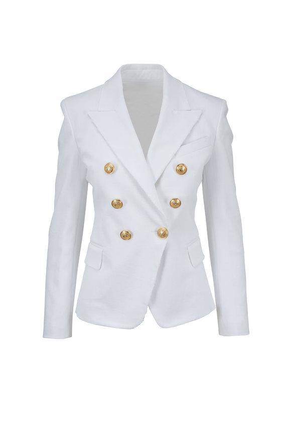 Balmain White Denim Signature Jacket
