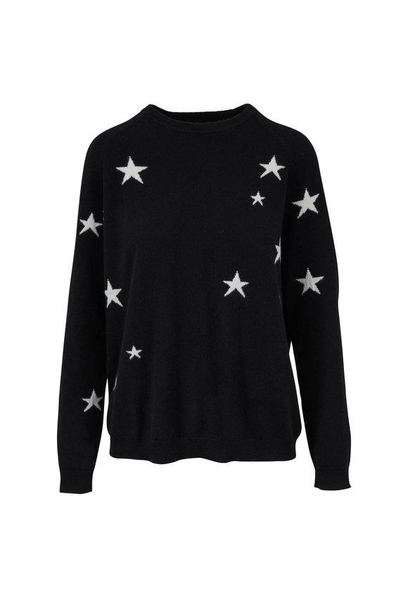Chinti & Parker Black & White Cashmere Star Sweater